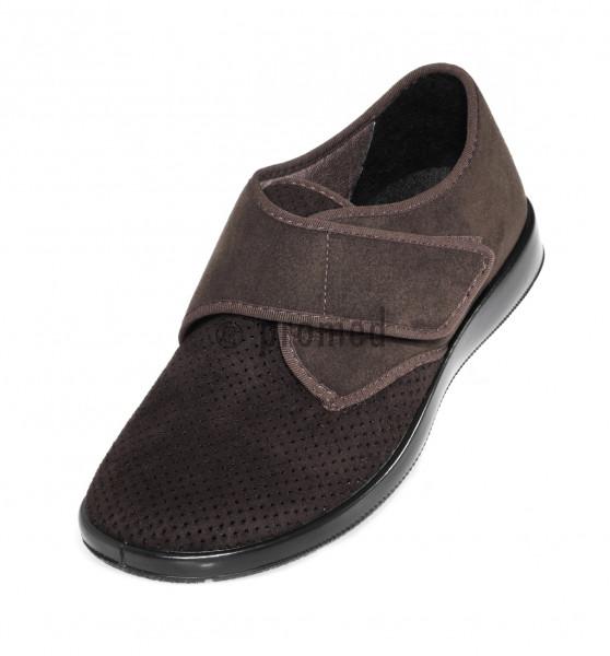 München 3, Bassa scarpa ortopedica confortevole, marrone